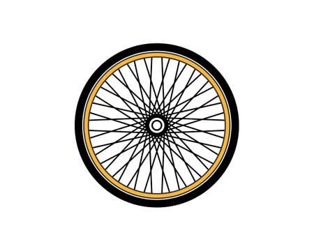 Bicycle wheel vector art illustration Ilustração