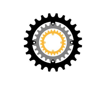 Gear bike vector illustration
