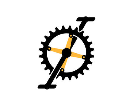 Bicycle gear vector illustration Stock Illustratie