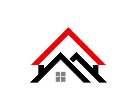 Black and red abstract house