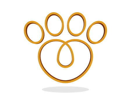 Love gold finger pet outline