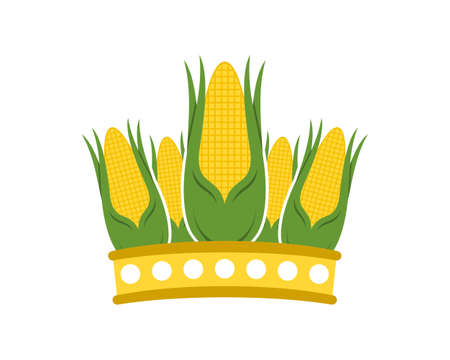Corn forming a crown shape Ilustracje wektorowe