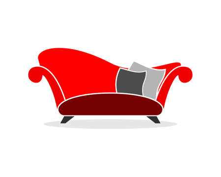 Luxury red sofa furniture
