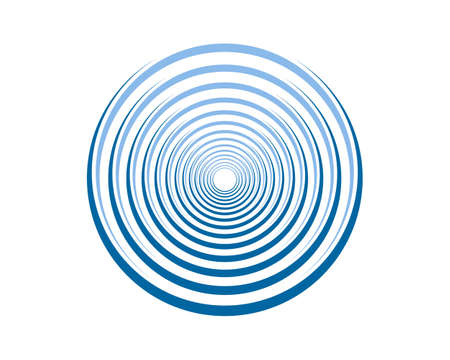 Ripple effect with circular blue