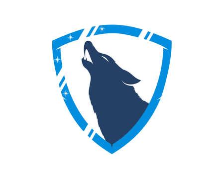 Roaring wolf inside the shining