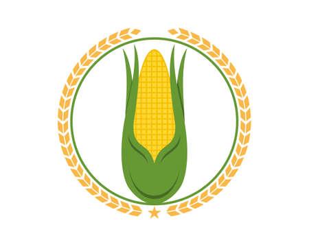 Corn farm inside the circular wheat