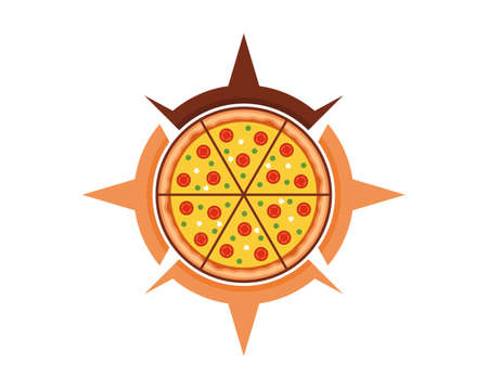 Pizza location in the compass shape