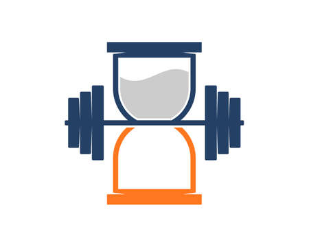 Hourglass with dumbbell in the middle