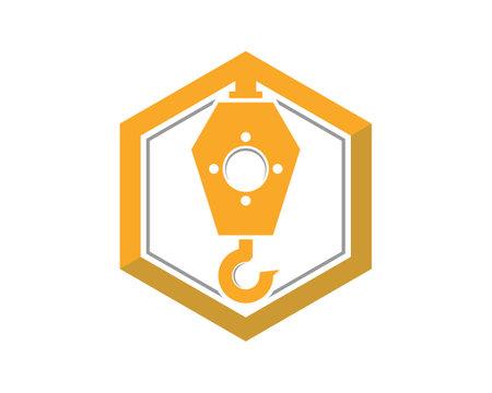 Crane with hexagon shape logo