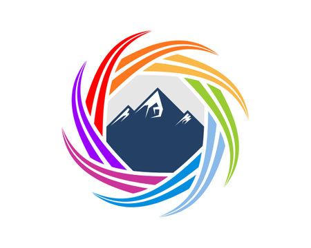 Blue mountain inside the spectrum circular curve