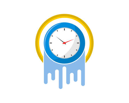 Fast clock time inside the yellow circle
