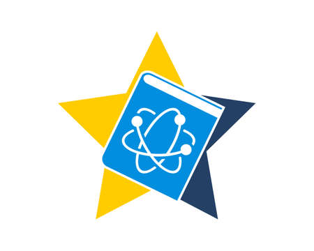 Science book in the star logo