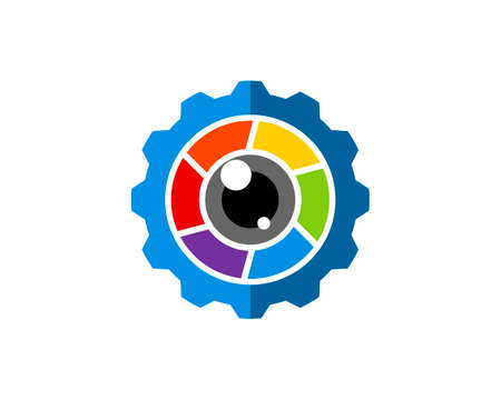 Repair gear with rainbow lens camera inside