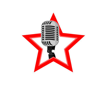 Microphone inside the red star