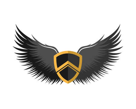 Spartan shield with black wings