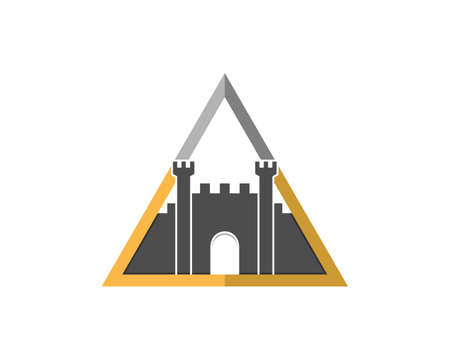 Fortress inside the triangle shape