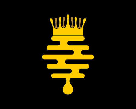 Abstract beehive liquid with crown on top
