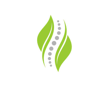 Chiropractic with nature green leaf