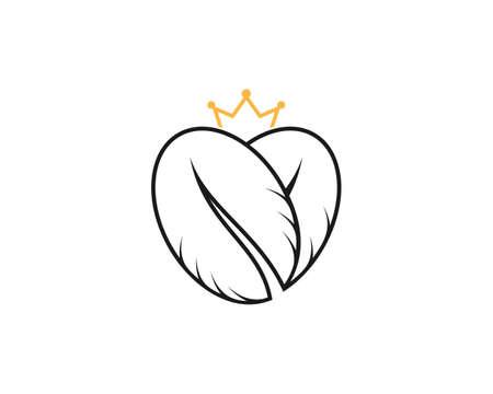 Love coffee with crown logo