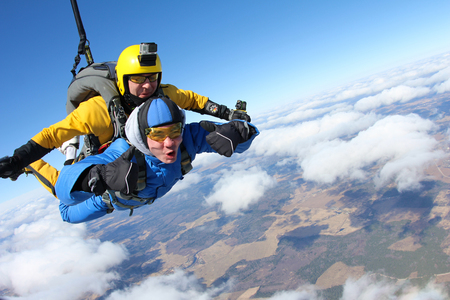 tandem jump Stock Photo - 78171720