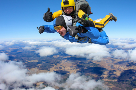 tandem jump Фото со стока