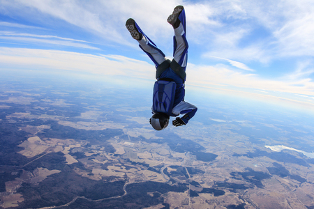 move in: Alone skydiver