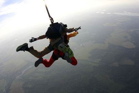 Skydiving. Tandem jump Imagens
