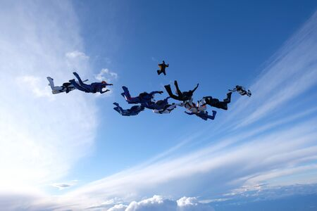 Formation skydiving.