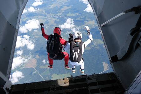 Skydiving. Exit.