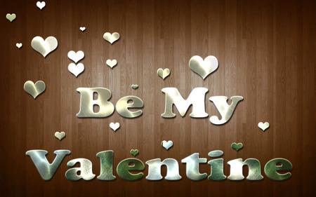be: Be my Valentine Stock Photo