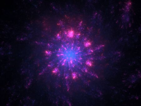 Firework space portal abstract background