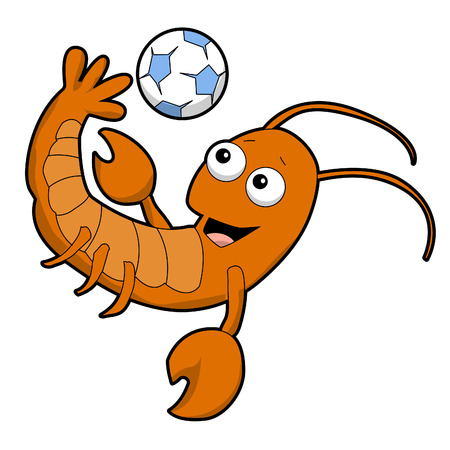 Cartoon Lobster Bicycle Kick
