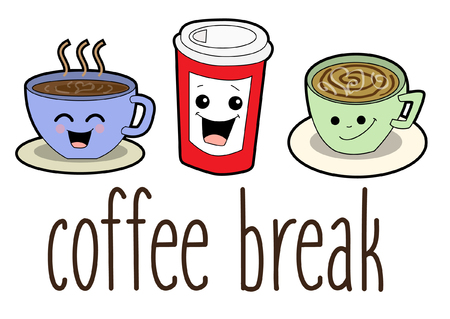 Coffee Break Cartoon Banco de Imagens - 65604850