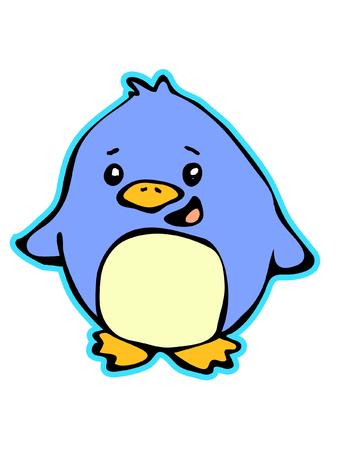 A Cute Little Chubby Penguin
