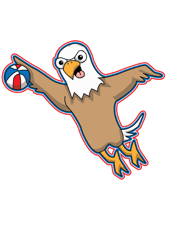 Eagle Basketball Mascot