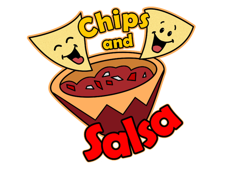 A Cartoon of Tortilla Chips and Salsa
