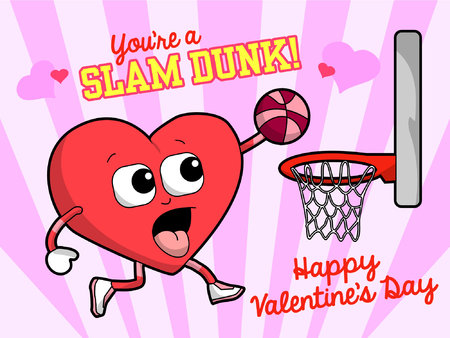 A Basketball Valentine 일러스트