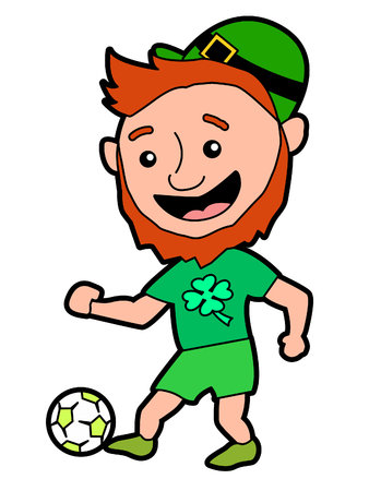 A Leprechaun Kicking a Soccer Ball
