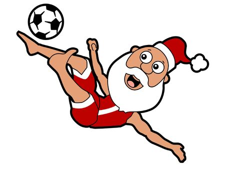 Santa Bicycle Kick