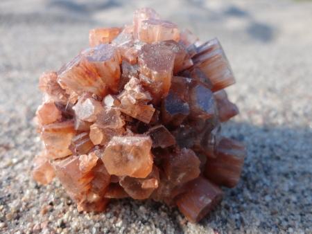 aragonite: Aragonite on Sand