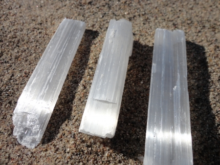 Selenite on Sand Stock fotó - 24524769