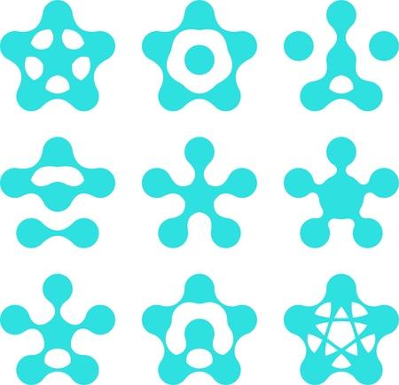 molecula de agua: Resumen de agua mol�cula vector plantilla de conjunto de la inform�tica y los iconos del concepto de ingenier�a