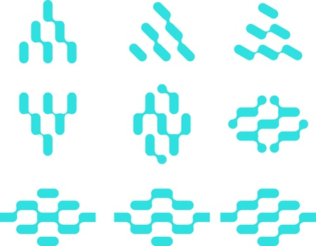 Abstract water molecule vector template set