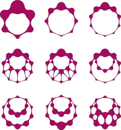 Abstract molecule vector template set