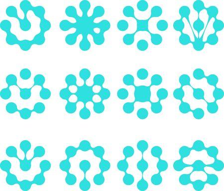 Abstract water molecule vector  Illustration