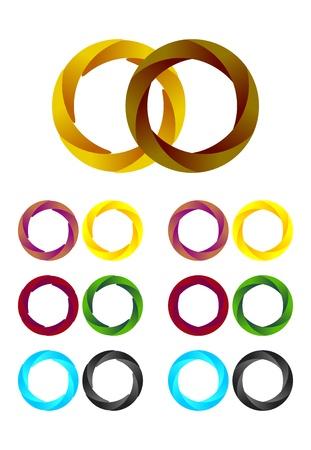 Design round logo element  Infinite cross ribbon design icon template