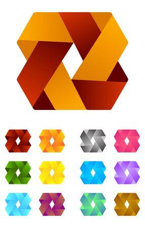 Design logo element  Infinite cross ribbon design icon template Stock Vector - 18681904