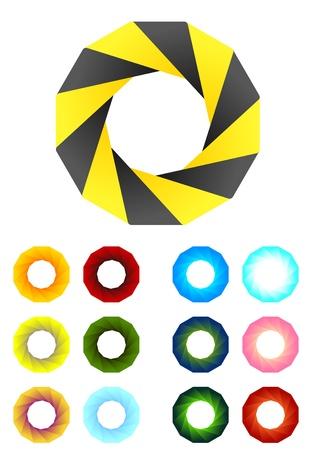 Design logo element  Infinite cross ribbon vector design icon template