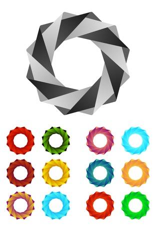 Design round logo element  Infinite cross ribbon vector design icon template