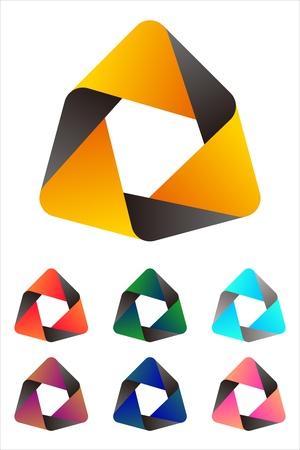 Design hexagonal logo element  Infinite cross ribbon design icon template